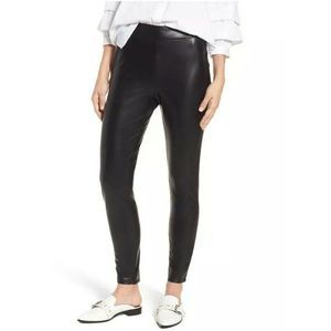 Leith High Waisted Faux Leather Leggings